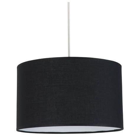eclairage chambre led suspension cylindrique abat jour noir en vente sur le