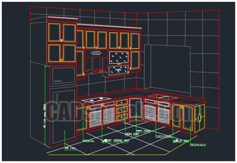 Cabinet Autocad Blocks by New Kitchen Cabinet Drawing Dwg 187 Cadsle