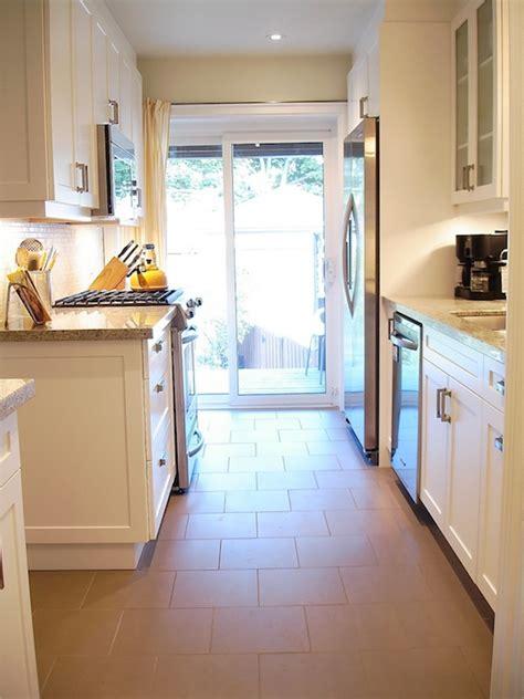 rambling renovators galley style kitchen with sliding