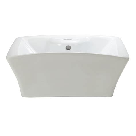 lowes white vessel sink shop decolav classically redefined white vessel square