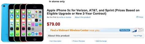 how much is a iphone 5c at walmart walmart offering launch discounts on new iphones 79