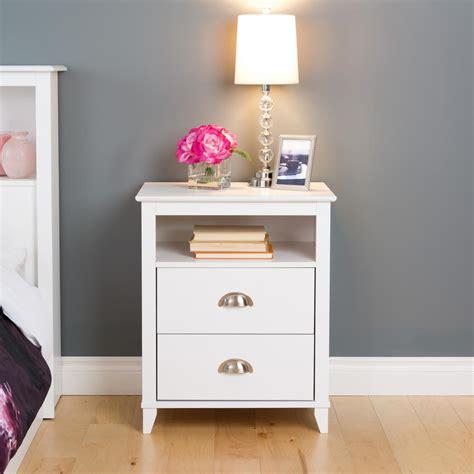 prepac yaletown  drawer white nightstand wdnh