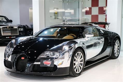Buggatti For Sale by Stunning Chrome And Black Bugatti Veyron For Sale Gtspirit