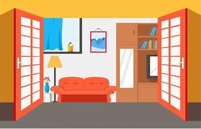 Messy Kitchen Vector Background Illustrations Clip Interior
