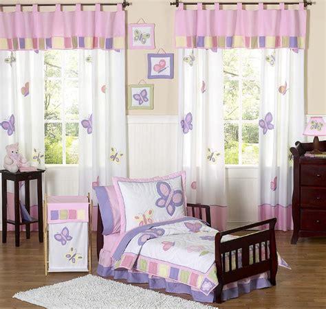 sweet jojo designs butterfly pink  purple collection