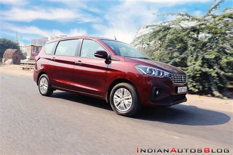 Review Suzuki Ertiga by 2019 Maruti Ertiga Review Images Front Three Quart