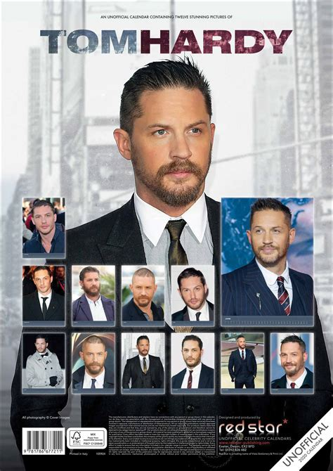 tom hardy unofficial calendar calendar club uk