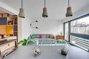 Vert D Eau Couleur : la couleur vert d 39 eau au coeur d 39 une r novation d 39 appartement ~ Mglfilm.com Idées de Décoration