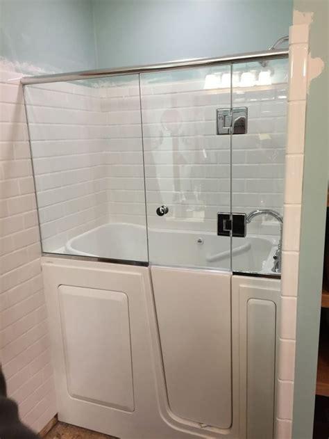 corner bathtub shower combo small bathroom elegant shower