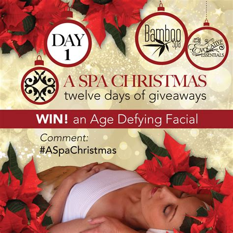 Giveaway Day 1  Age Defying Facial  A Spa Christmas  Bamboo Spa  Midland, Ontario