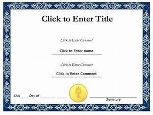 Award Certificate Template | Printable Calendar Templates