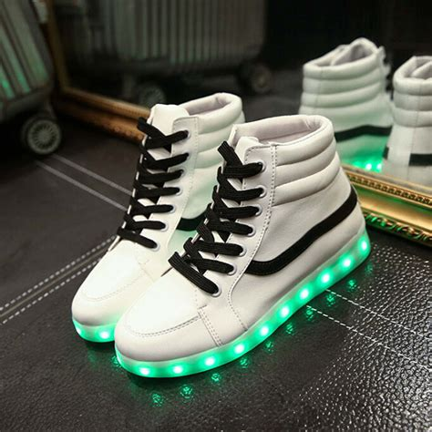 vans light up shoes unisex yeezy fashion led light up shoes for lovers leather