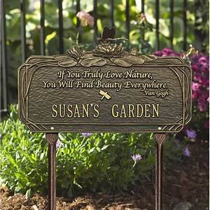Dragonfly Poem Garden Sign Personalize