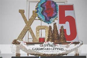 glittered cardboard letters tutorial jaderbomb With glitter cardboard letters