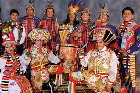 """Peruvian dance traditional folk dance from the south american country of peru uses colorful costumes in traditional fabrics from the andean highlands and the coasts. Traditional Cultural Folk Dancers Peru 7373/ International Talent Agency """"Rising Stars""""."""