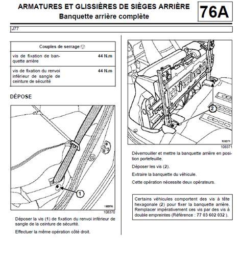 siege arriere twingo 2 pin grand scenic notice faisceau electrique pour attelage