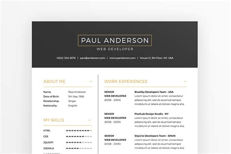 Free Resume & Cover Letter Template + Business Cards On