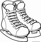 Coloring Pages Ice Skates Printable Sport sketch template