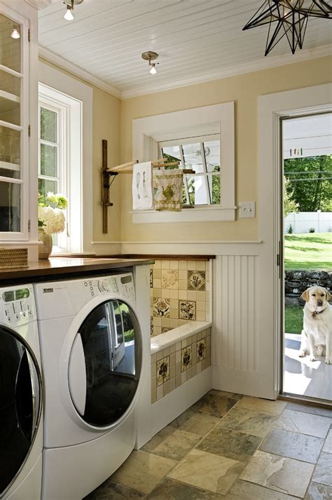 Porch Utility Room by Gorgeous Doggie Steps In Laundry Room Traditional With