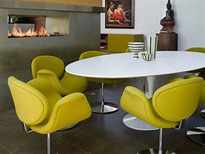 decoration salle a manger moderne 50 idees d39inspiration With salle a manger ovale