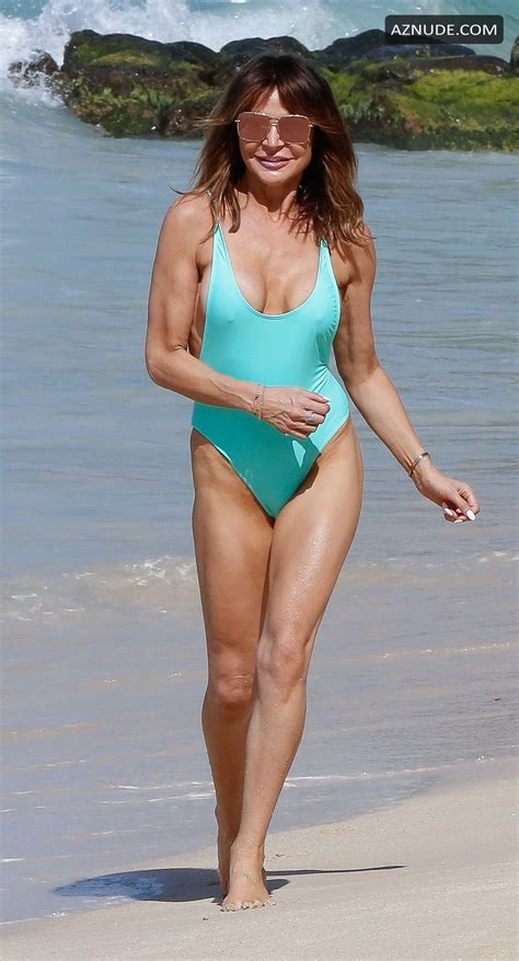 Lizzie Cundy Spotted In A Blue Swimsuit While On The Beach