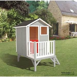 Maisonnette En Bois Sur Pilotis : maisonnette enfant en bois louise cabane sur pilotis ~ Dailycaller-alerts.com Idées de Décoration