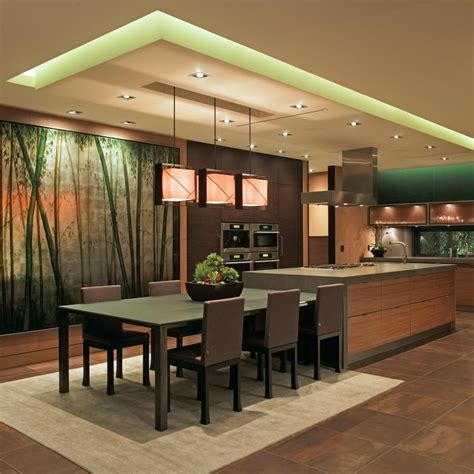 kitchen island with seating area kitchen modern luxurious with wall mural mixed woods 8264