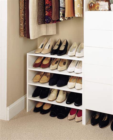 Closet Shoe Racks by Shoe Storage Ideas For The Home Shoe Rack Closet Shoe