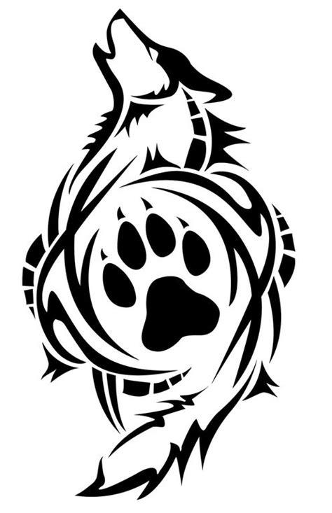 158f9d133959c6ed85ce94c051567684 | Tribal wolf tattoo, Wolf paw tattoos, Wolf paw print