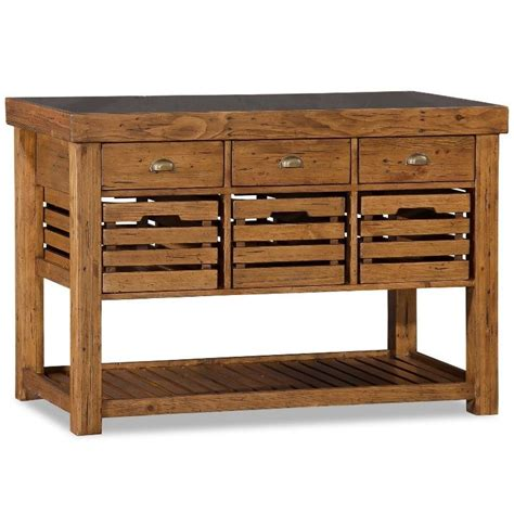 kitchen island tables with stools recycled timber portable kitchen island w 6 drawer buy