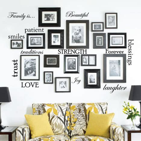 Microsoft word frame page framejdi org. Set of 12 Family Quote Words Vinyl Wall Sticker Picture Frame Wall #1332 - InnovativeStencils