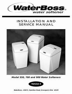 Water Boss 900 User Manual