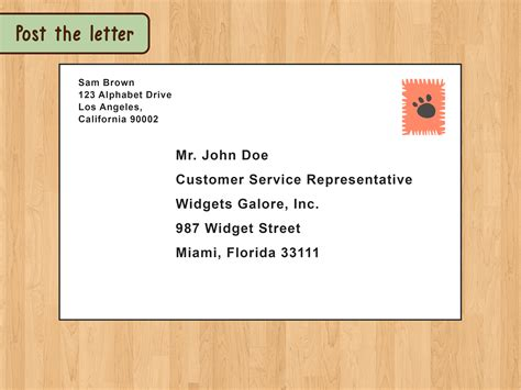 send a letter the best way to write and format a business letter wikihow