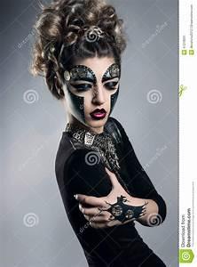 Woman With Makeup Steampunk Stock Image Image Of Makeup