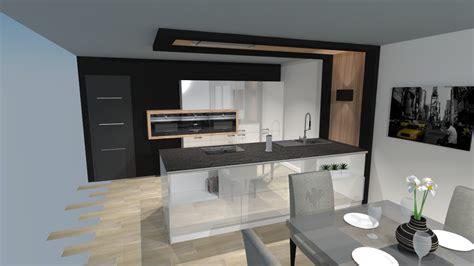 perspective cuisine beautiful cuisine moderne laque blanc avec lot with