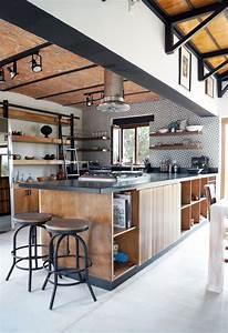 Cuisine Style Industriel Bois : cuisine style industriel bois ~ Teatrodelosmanantiales.com Idées de Décoration