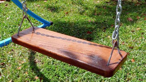 wooden swing seat swing set ludemannengineering 1178