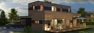 Maison Bois Contemporaine : maison ossature bois contemporaine t6 etage 145m2 ~ Preciouscoupons.com Idées de Décoration