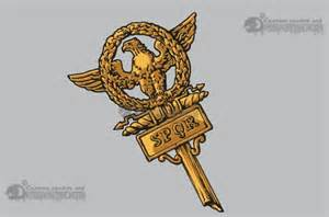 Roman Eagle SPQR Tattoo
