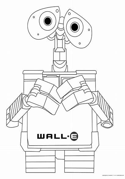 Coloring Wall Walle Pages Disney Printables Printable