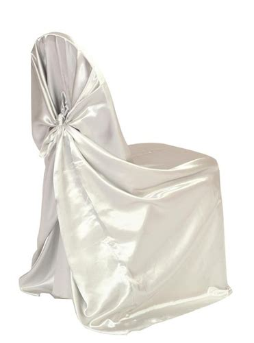 satin self tie chair cover white or ivory you can t
