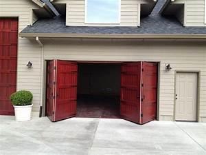 bi fold garage door non warping patented honeycomb With automatic carriage garage doors