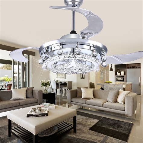 living room ceiling light fan led fan crystal chandelier dining room living room fan