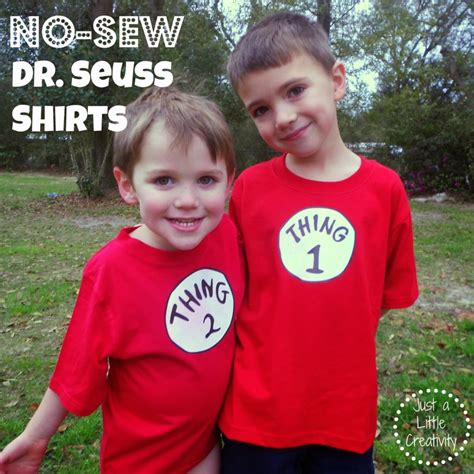 Thing One T Shirt Template by Make A No Sew Dr Seuss Shirt Thing One And Thing Two