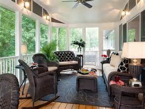 decorations fabulous decorating screened porch with black rattan furniture how to create