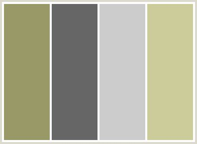what colour scheme goes with grey colorcombo26 with hex colors 999967 666666 cccccc cccc9a