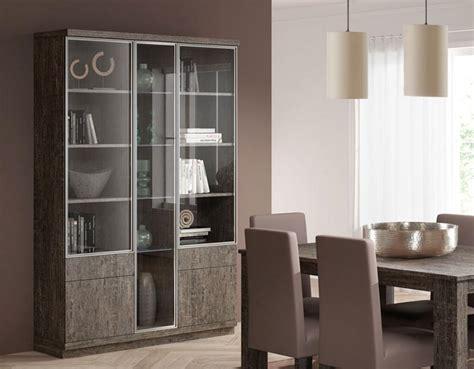 glass door display cabinet baixmoduls 3 door contemporary display cabinet with glass