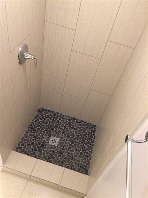 pebble floor tile lowes sliced charcoal black pebble tile pebble tile shop
