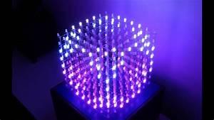 3d 8x8x8 Rgb Led Cube