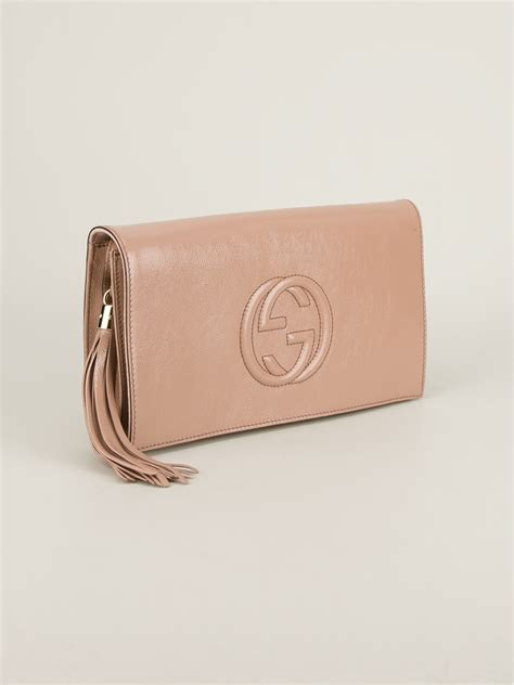 Gucci Soho Clutch in Pink | Lyst